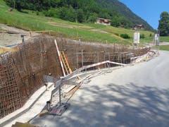 Die Armierungseisen für die Betonkonstruktion sind bereit. (Bild: PD)