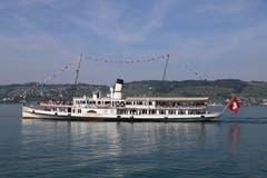 Das Dampfschiff «Stadt Luzern» auf Abschiedstournee. (Leserbild: Xaver Husmann (16. September 2018)