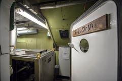 Blick in den Raum mit dem Stromgenerator.