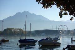Määs in Luzern, über die Seebucht gesehen. (Bild: Josef Habermacher (Luzern, 11. Oktober 2018))