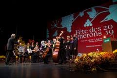 Die Eröffnungsfeier wurde musikalisch begleitet. (Bild: Keystone)
