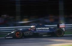 Der Finne JJ Lehto am Steuer des Sauber C12 - dem ersten Formel-1-Boliden der Hinwiler. (Bild: Sutton/Freshfocus (Monza, 12. September 1993))