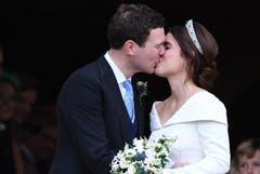 Prinzessin Eugenie and Jack Brooksbank. (Bild: Neil Hall/EPA (Windsor, 12. Oktober 2018))