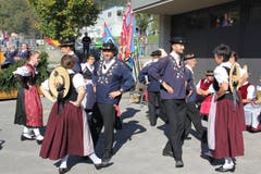 Auch die Trachtengruppe Bürglen hatte ihren Auftritt. (Bild: Paul Gwerder, Bürglen, 14. Oktober 2018)