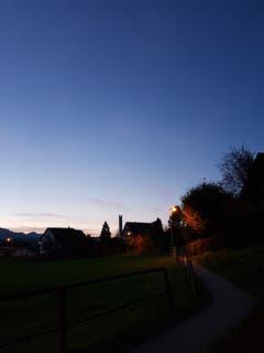 Ebnat-Kappel in der Nacht. (Bild: Reto Schlegel)