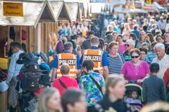 Olma St. Gallen 2018: Jahrmarkt, Polizei © Urs Bucher/TAGBLATT
