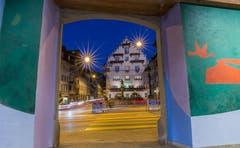 Der Kolinplatz Zug mal anders (Bild: Daniel Hegglin)