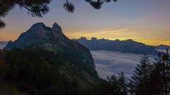Herrliches Nebelmeer im Alpstein. Aufgenommen vom Berggasthaus Staubern. (Bild: Oliver Schaer)