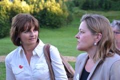 Alt Bundesrätin Ruth Metzler und Z'graggen an der Premiere des Freilichtspiels «Tell trifft Wagner». (Bild: Bruno Arnold (Seelisberg, 31. Juli 2013))