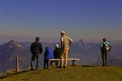 Blick von der Musenalp in die Berglandschaft mit den Mythen. (Bild: André Egli (Musenalp, 17. Oktober 2018))