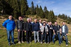 Gruppenbild am Öffentlichkeits- und Behördenanlass des Infanteriebataillons 20 am Donnerstag, 18. Oktober 2018 auf dem Glaubenberg. (Bilder: Philipp Schmidli (18. Oktober 2018)