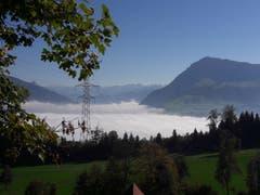 Sonnen-Chilbi über dem Nebel... (Bild. Helen Lang (Michelskreuz, 14. Oktober 2018))