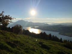 Sonnenuntergang. (Bild: Salvatore di Mare (Seebodenalp, 11. Oktober 2018))
