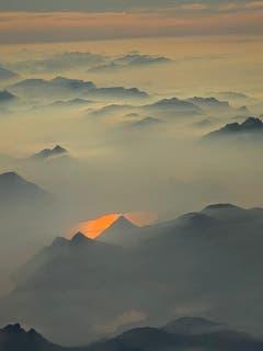 Nach den Tauchferien war dies einer der ersten Blicke auf die schöne Heimat. (Bild: Monica Roth (Flug über die Zentralschweiz, 18. Oktober 2018))