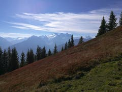 Auf dem Gibelweg oberhalb der Käserstatt im Hasliberg hat man eine herrliche Sicht auf den Rosenlauigletscher. (Bild: Urs Gutfleisch (Gibel, 17. Oktober 2018))