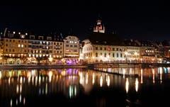 Nachts in Luzern. (Bild: Marianne Schmid (Luzern, 17. Oktober 2018))