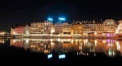 Luzern bei Nacht. (Bild: Marianne Schmid (17. Oktober 2018))