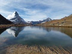 Der Riffelsee und die Traumkulisse mit dem Matterhorn. (Bild: Bruno Ringgenberg (Riffelsee ob Zermatt, 19. Oktober 2018))