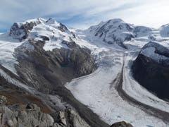 Auf dem Gornergrat: Ein Blick auf die einzigartige Bergwelt. (Bild: Bruno Ringgenberg (19. Oktober 2018))