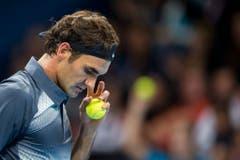 2013 - Roger Federer verliert den Final gegen den Argentinier Juan Martin Del Potro. (KEYSTONE/Ennio Leanza)