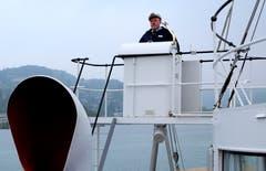 Abschiedsfahrt des Flaggschiffs Stadt Luzern mit Kapitän Kuno Stein (Bild: Sepp Bernasconi (Weggis, 21. Oktober 2018)