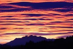 Sonnenuntergang über dem Thurtal. (Bild: Thomas Ammann)