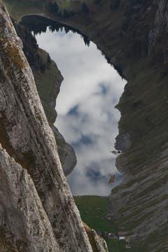 Tiefblick: der Fählensee aus einer unüblichen Perspektive (Bild: Heinz Weber)