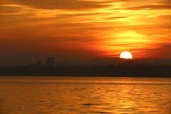 Sonnenuntergang am Zugersee.