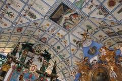 Der bekannte Bilderhimmel der Kirche Hergiswald in Kriens/Obernau. (Bild PD)