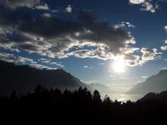 Ausblick auf den Brienzersee und die einmalige Landschaft. (Bild: Bruno Ringgenberg, Oberschwanden bei Brien, 24. Oktober 2018)