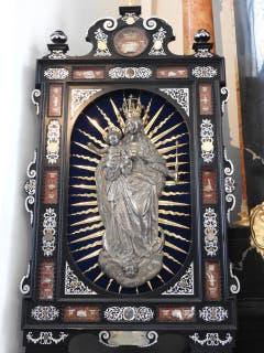 Die Figur der Patrona Lucernae in der Kirche Hergiswald in Kriens/Obernau. (Bild PD)