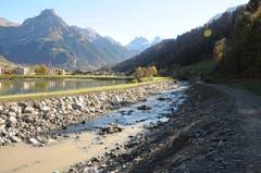 Hochwasserschutzprojekt Engelbergraa. Zweite Etappe beim Eugenisee. (Bild: Philipp Unterschütz, Engelberg, 26. Oktober 2018)