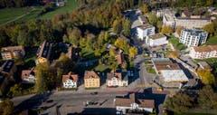 Das Areal in der Ecke Zürcher- und Rechenstrasse mit Blick von Süden nach Norden.