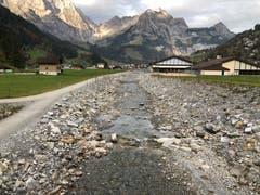 Hochwasserschutzprojekt Engelbergraa. Fertiggestellte Bereiche der ersten Etappe. (Bild: PD)