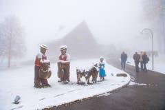 Wintereinbruch oberhalb Rehetobel in der Nähe des Restaurant Gupf. (Bild: Urs Bucher)