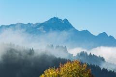 Herbstliche Nebelschwaden. (Bild: Hans-Jörg Nüesch)
