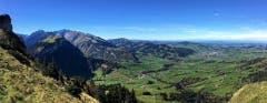 Blick auf Appenzell vom Oberen Kamor aus. (Bild: Toni Sieber)