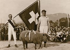 Karl Thommen war derweil der erste Schwingerkönig des Verbands. (Bild: Jubiläumszeitschrift Nordostschweizer Schwingerverband)