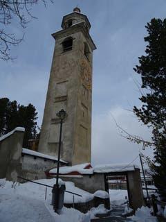 Der schiefe Turm von St. Moritz. (Bild: Josef Müller, 30. Oktober 2018)