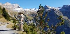 So schön ist es jetzt in den Bergen beim Wandern. Blick Richtung Rugghubelhütte auf dem Weg zum Brunni / Engelberg. (Bild: Kurt Hägi (5. Oktober 2018))