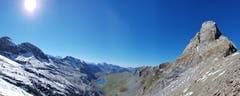 Ein Traumtag auf der Furggelen, mit Sicht Richtung Glattalpsee. (Bild: Priska Arnold (Furggelen, 5. Oktober 2018))