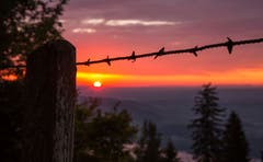 Sonnenuntergang auf dem Zugerberg. (Bild: Daniel Hegglin (6. Oktober 2018))