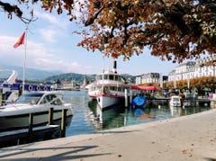 Herbsteindrücke am Luzerner Seeufer. (Bild: Larisa Gheorghe (7. Oktober 2018))