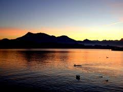 Wenn der Tag über der Rigi erwacht. (Bild: Walter Buholzer (Luzern, 7. Oktober 2018))
