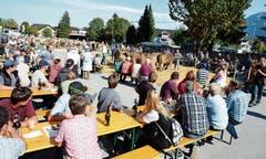 Schönstes Spätsommerwetter lockte zahlreiche Besucher an die Buchser Viehschau.