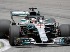 War eine Klasse für sich: Lewis Hamilton im Mercedes (Bild: KEYSTONE/EPA EFE/SEBASTIAO MOREIRA)