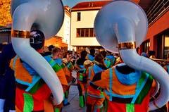 Die Seegusler untermalten den öffentlichen Anlass musikalisch.