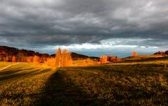 Goldene Stunde im goldenen Herbst in Kirchberg. (Bild: Roland Hof)