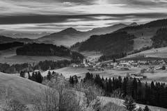Vom Rechberg Herisau mit dem Blick auf Hundwil. (Bild: Luciano Pau)