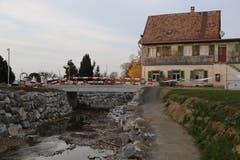 Die neue Brücke bei der Grünaustrasse. (Bild: Sandro Büchler)